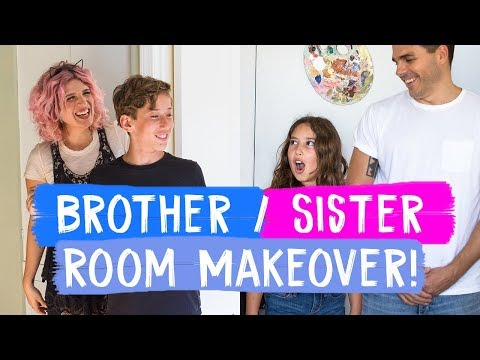 Surprise Brother and Sister Room Makeovers! | Mr. Kate Decorates