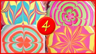Vibrant summer water marble combos: 4 different designs!