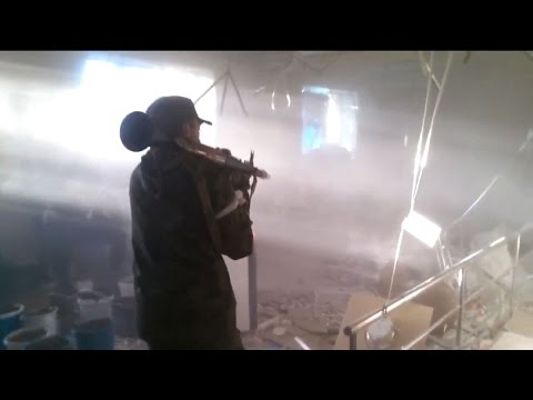 05.12.2014 Donetsk Airport. Rebels in Donetsk Airport
