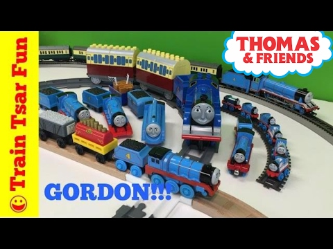 My GORDON THE BIG ENGINE Locomotive Collection Thomas & Friends Trains
