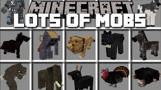 Minecraft LOTS OF MOBS MOD / FIGHT AGAINST TIGERS AND ELEPHANTS!! Minecraft