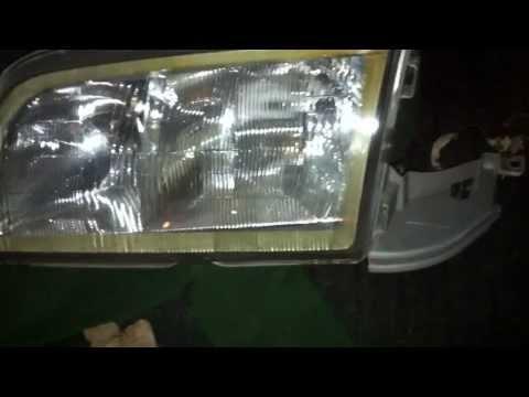 Mercedes w202 .w126.w124 headlight lens replacement