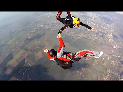 Skydiver Enters Out Of Control Midair Spin In Solo Jump