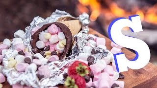 Sensational S'more Cones Recipe!! | Camp Food Pt.2