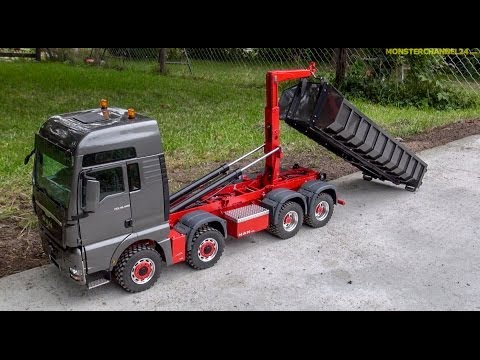 RC truck stunning!  1:14,5 Container MAN TGX 8x8 made by ScaleArt