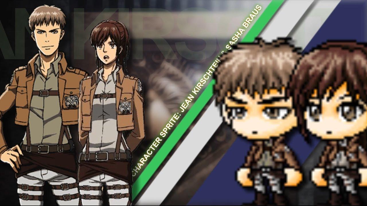 Anime Sprite - Sasha Braus & Jean Kirschtein (Shingeki no ...