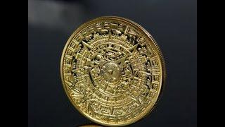 Mayan Prophecy calendar coin 24k gold clad Medallion bullion