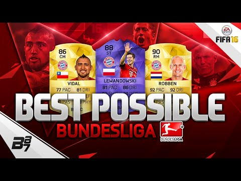 FIFA 16 BEST POSSIBLE BUNDESLIGA SQUAD BUILDER! w/ HERO LEWANDOWSKI AND ROBBEN