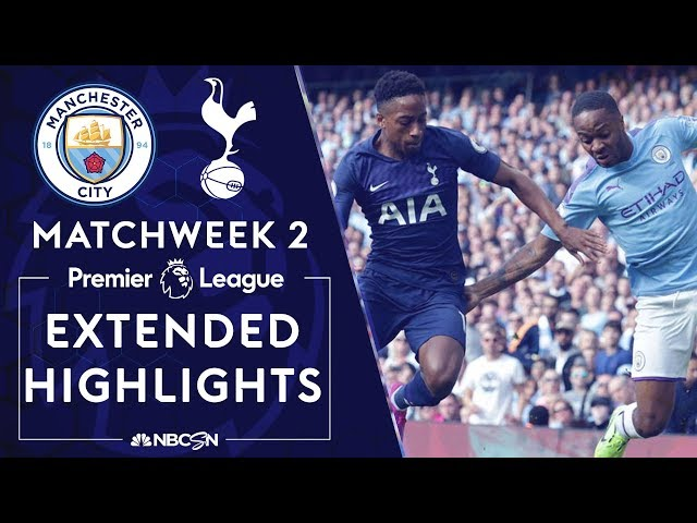 Manchester City v. Tottenham Hotspur   PREMIER LEAGUE HIGHLIGHTS   8/17/19   NBC Sports thumbnail