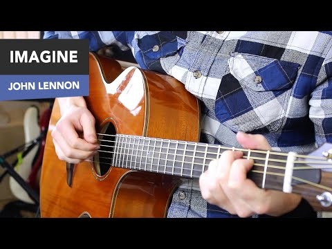 Imagine Guitar Tutorial - EASY Fingerstyle Lesson - John Lennon Chords