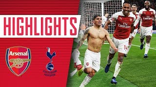 Arsenal 4 - 2 Tottenham | Goals, highlights, fans amp celebrations
