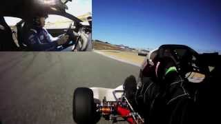 36HP 125cc Shifter Kart Vs. 444HP Mustang Boss 302 Laguna Seca Edition - Lap of Laguna Seca