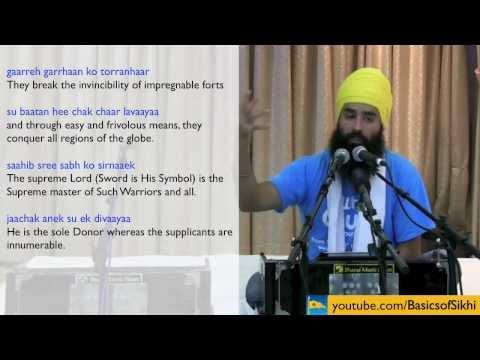 #3 Tav Prasad Svaiye English Katha - 4th - 6th Svaiye