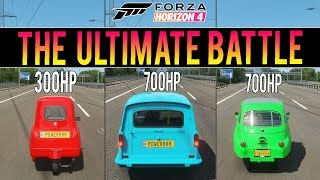 Forza Horizon 4 - ULTIMATE BATTLE! - P50 vs ISETTA vs RELIANT