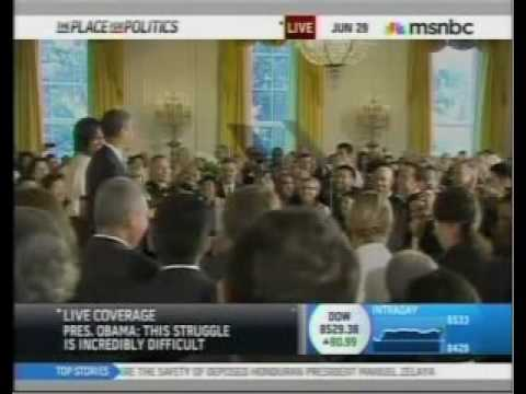 Obama Interrupted by Duck Ringtone