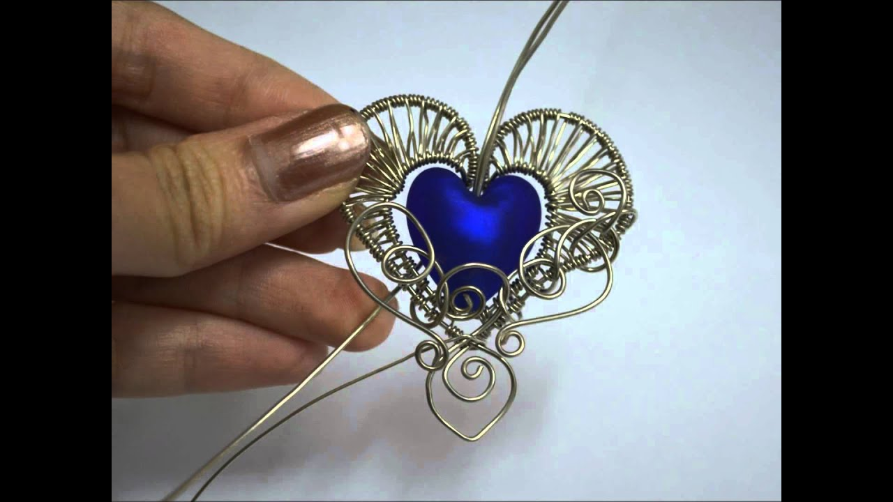 Gothic Heart Wire Wrapped Pendant Time Lapse Process Video Tutorial