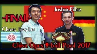 ⋆Chang Jung Lin -vs- Joshua Filler⋆ FINAL China Open 9-ball Pool 2017⋆