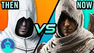 Assassin's Creed Origins VS. Original -Then VS. Now (Evolution Assassins Creed)  | The Leaderboard