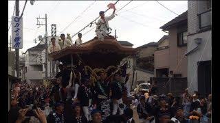 【岸和田だんじり祭】20170917 本宮 S字出口側 No.2 (Japanease Danjiri in Kishiwada Osaka  2017/09/17)