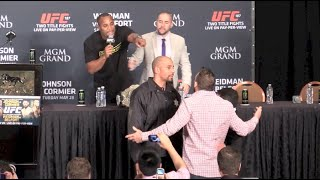 Daniel Cormier and Ryan Bader Nearly Come to Blows at UFC 187 Post-Fight Press Conference