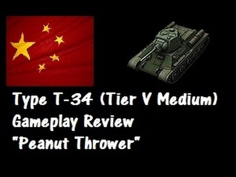 Type T-34 LIVE Gameplay Review - The Peanut Thrower - World of Tanks