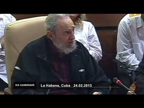 Fidel Castro is back at the national assembly - no comment