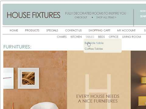 0 House Fixtures Store osCommerce template
