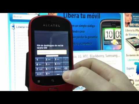 Liberar Alcatel OT-908 por imei de Yoigo. Movistar. Orange o Vodafone