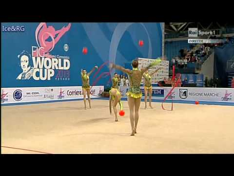 Italy AA 3 Balls 2 Ribbons World Cup Pesaro 2013