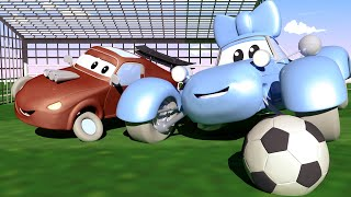 Baby Cars - The FOOTBALL GAME : Jerry & Katie Had a FALLINGT OUT! Car City ! Trucks Cartoon for kids