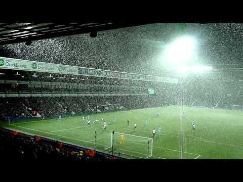WBA v Man City 26th Dec - Joleon Lescott is top of the league + snow scenes