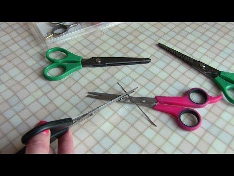 Как заточить ножницы за 1 минуту//2 способа