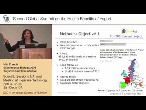 2nd Summit on the Health Effects of Yogurt -San Diego- Yogurt and type 2 Diabetes - Prof N. Forouhi