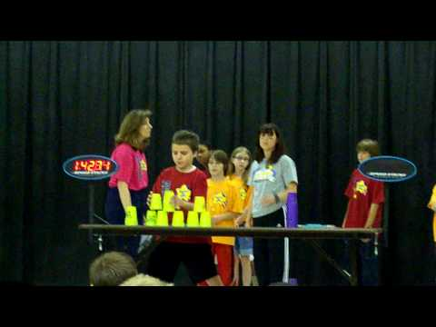 Bethel Elementary School Cup Stacking I