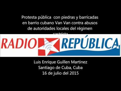 Fuerte protesta con piedras y barricadas en barrio cubano de Santiago de Cuba