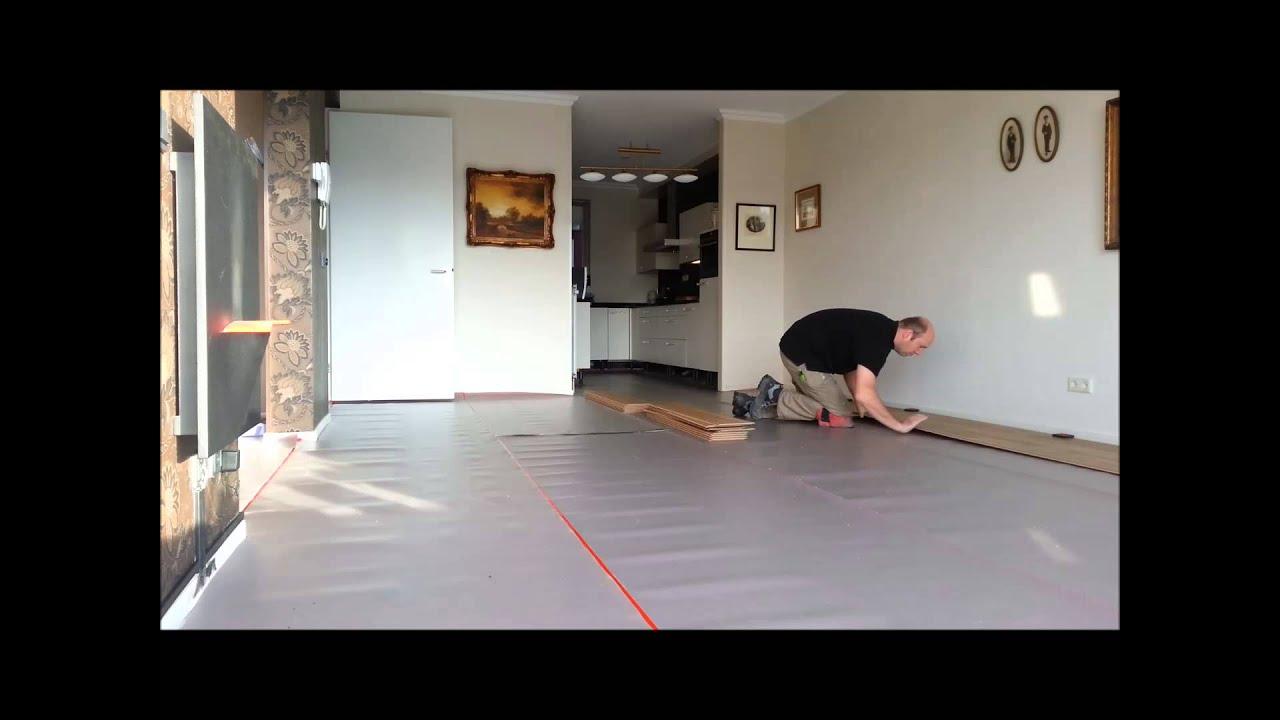 Pvc vloer zwevend leggen in appartement door loman parket