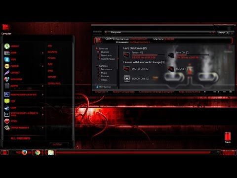 Blade Red  amazing theme for Windows 7 + icons