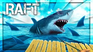 THE SHARKS ATTACKS MY RAFT! (Raft)