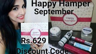 Happy Hamper September Box | 10%  Discount Code | Unboxing & Review | Giveaway Open