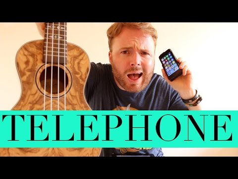 Telephone - Beyonce & Lady Gaga (Ukulele Tutorial)