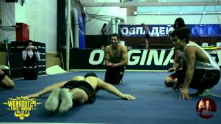 WORKOUT24 & ERYC_ORTIZ . Christmas workout in Moscow