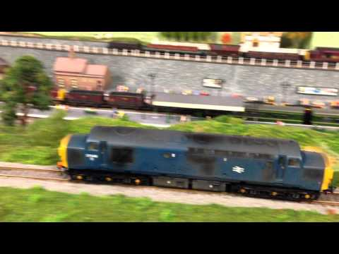 BRITISH DIESEL LOCOMOTIVE BR BACHMANN CLASS 37 DCC & SOUND TEST RUN