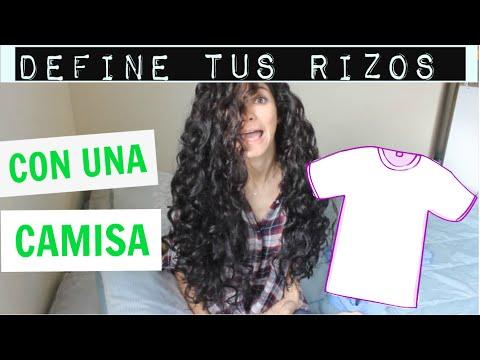 Rizos Definidos y con Volumen    SIN CALOR   Usando una camiseta   HEATLESS CURLS