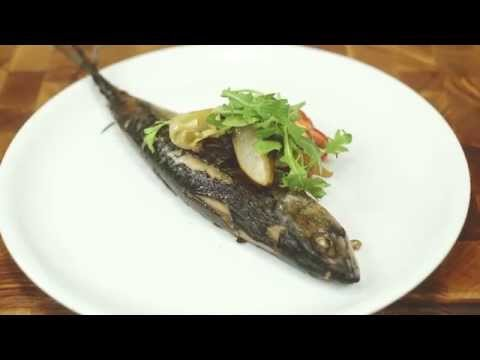 Как похудеть? Рецепты для похудения- Скумбрия с грушей и томатами