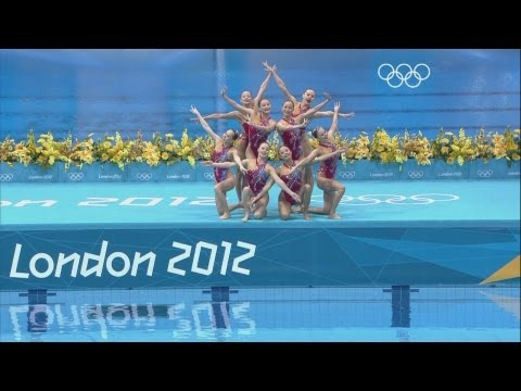 Synchronised Swimming Teams Technical Routine -  London 2012 Olympic Games Highlights