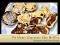 Chocolate Chip Muffins Pie maker Cheekyricho Cooking youtube video recipe. ep. 1,344
