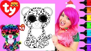Coloring Ty Beanie Boos Dotty Rainbow Leopard Coloring Page Prismacolor Markers | KiMMi THE CLOWN