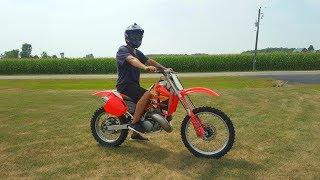 Honda Cr 500 Full Throttle!!!