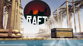 Raft - Game Update! - Death by Drowning!? - Raft House & Palm Tree Plantation - Raft Gameplay Part 3