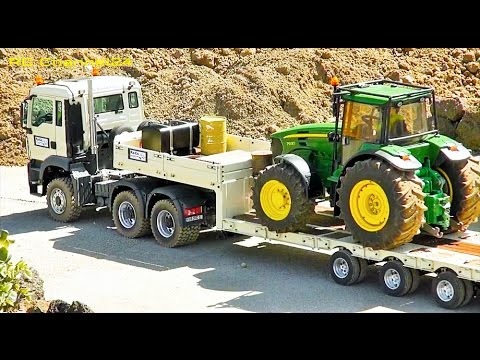 AWESOME RC MAN TRUCK, MB TRUCK, TRACTOR, RC EXCAVATOR LIEBHERR AND MORE!